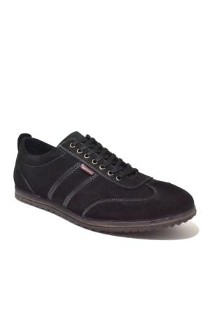 Dropland Hakiki Deri Günlük Siyah Nubuk Erkek Ayakkabısı