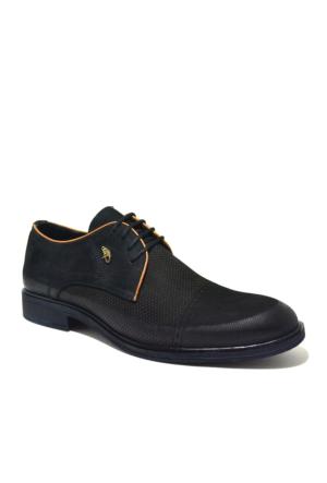 Dropland Hakiki Deri Günlük Siyah Nubuk Erkek Ayakkabısısı