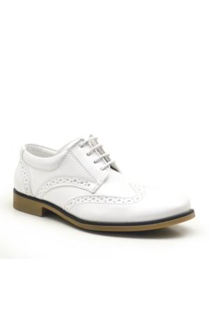 Raker Beyaz Rugan Klasik Erkek Çocuk Sünnet Ayakkabısı