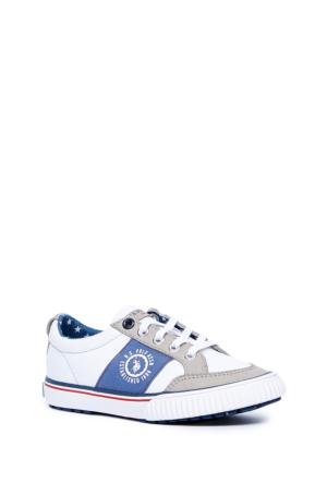 U.S. Polo Assn. Erkek Çocuk Y6Norm Ayakkabı Beyaz