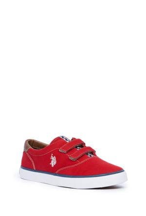 U.S. Polo Assn. Erkek Çocuk Y6Fizroy2 Canvas-1 Ayakkabı Kırmızı