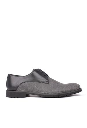 Crunell 214129 027 235 Erkek Siyah Gri Günlük Ayakkabı