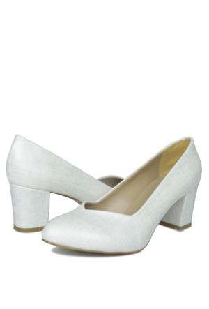 Loggalin 580711 031 464 Kadın Beyaz Abiye Ayakkabı