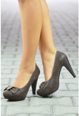 Peri Kızı Begonya Topuklu Ayakkabı Kahverengi