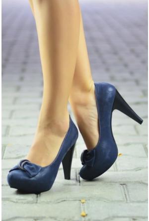 Peri Kızı Begonya Topuklu Ayakkabı Lacivert
