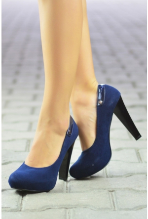 Peri Kızı Emperor Topuklu Ayakkabı Lacivert