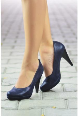 Peri Kızı Esmera Topuklu Ayakkabı Lacivert