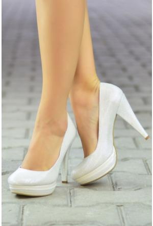 Peri Kızı Felipe Topuklu Ayakkabı Beyaz
