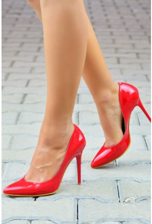 Peri Kızı Letto Stiletto Ayakkabı Kırmızı