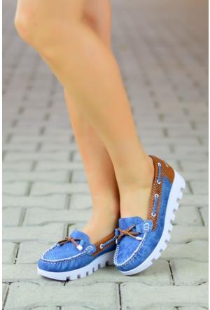Peri Kızı Loafer Ayakkabı Mavi