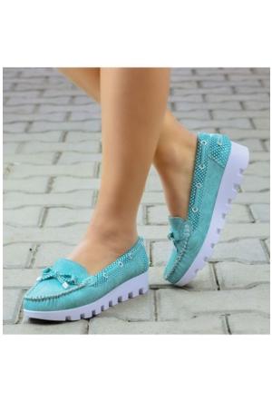 Peri Kızı Loafer Ayakkabı Yeşil