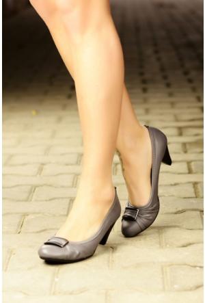 Peri Kızı Nigara Topuklu Ayakkabı Gri