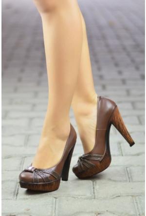 Peri Kızı Sosa Topuklu Ayakkabı Kahverengi
