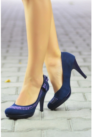 Peri Kızı Yumana Topuklu Ayakkabı Lacivert