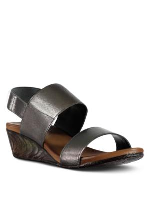 Marjin Vidor Dolgu Sandalet Gümüş