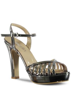 Marjin Rales Topuklu Abiye Ayakkabı Gümüş