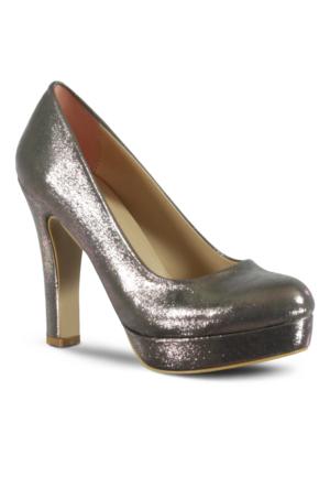 Marjin Duste Topuklu Abiye Ayakkabı Gümüş