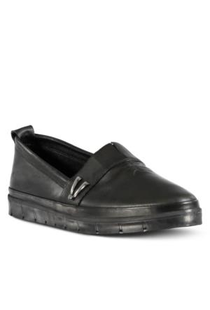 Marjin Venlar Düz Ayakkabı Siyah