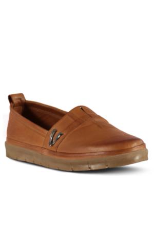 Marjin Venlar Düz Ayakkabı Taba
