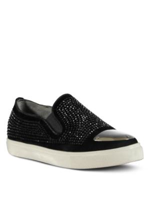 Marjin Vedas Düz Ayakkabı Siyah Süet