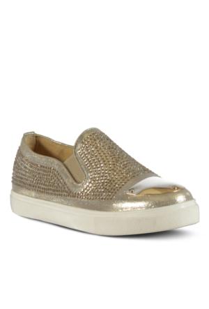 Marjin Vedas Düz Ayakkabı Altın