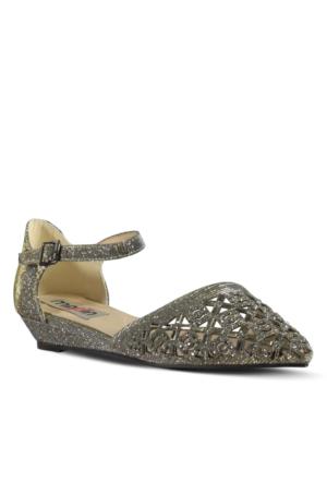 Marjin Carnel Düz Ayakkabı Altın