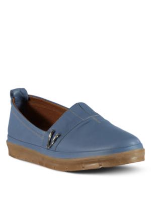Marjin Venlar Düz Ayakkabı Kot Mavi