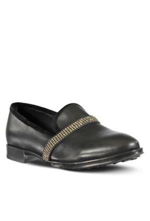 Marjin Revas Düz Ayakkabı Siyah