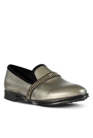 Marjin Revas Düz Ayakkabı Gümüş