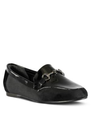 Marjin Jayne Düz Ayakkabı Siyah Rugan