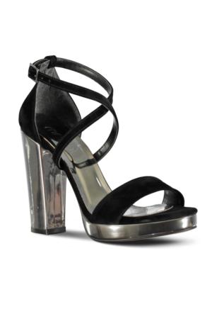 Marjin Udey Platform Topuklu Abiye Ayakkabı Gümüş