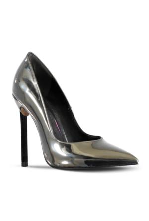 Marjin Juste Topuklu Ayakkabı Gümüş