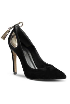 Marjin Jensa Topuklu Ayakkabı Siyah Süet