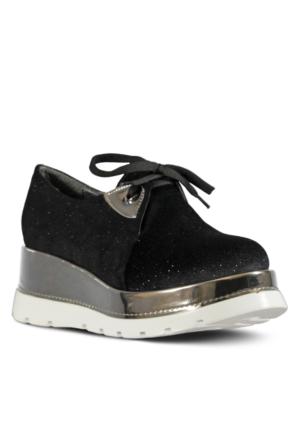 Marjin Netla Dolgu Spor Ayakkabı Siyah Sim