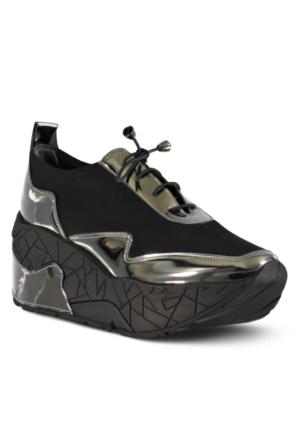 Marjin Jenas Dolgu Spor Ayakkabı Gümüş