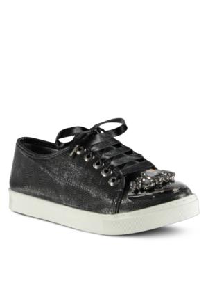 Marjin Almira Düz Spor Ayakkabı Siyah