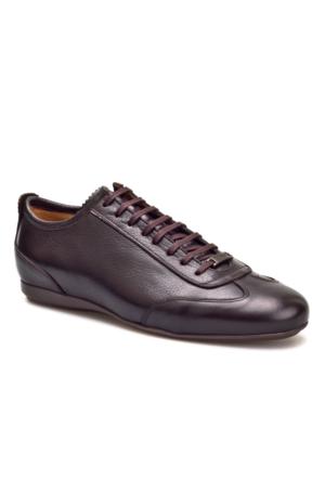 Cabani Bağcıklı Günlük Erkek Ayakkabı Kahve Napa Deri
