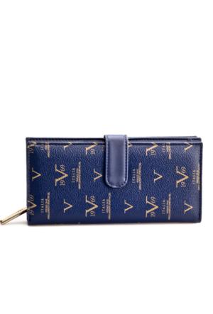Versace 1969 Abbligliamento Günlük Kadın Cüzdan Lacivert Deri