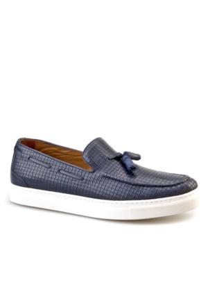 Cabani Püsküllü Sneaker Günlük Erkek Ayakkabı Mavi