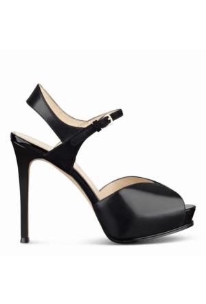 Nine West Nwcruzeto Siyah Gerçek Deri Sandalet