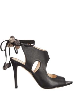 Nine West Nwmaya Siyah Gerçek Deri Sandalet