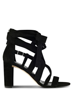 Nine West Nwnuru2 Siyah Kumaş Sandalet