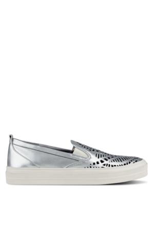 Nine West Nwoletta Gümüş Gerçek Deri Ayakkabı