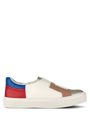 Nine West Nwobasi3 Beyaz Altın Multi Suni Deri Ayakkabı