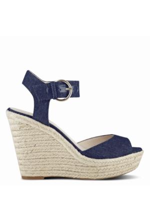 Nine West Nwjerrika7 Lacivert Denim Kumaş Sandalet
