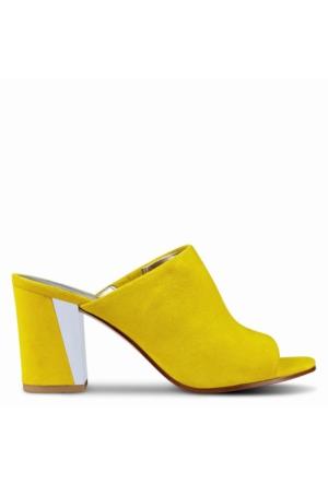 Nine West Nwgemily Sarı Gerçek Süet Terlik