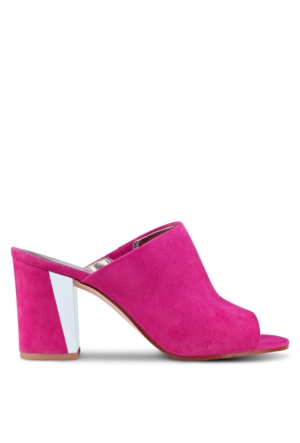 Nine West Nwgemily Pembe Gerçek Süet Terlik