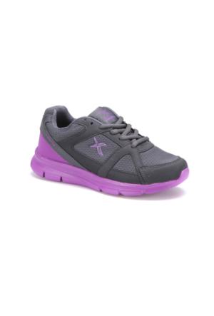 Kinetix Kalen Tx W Koyu Gri Mor Kadın Koşu Ayakkabısı