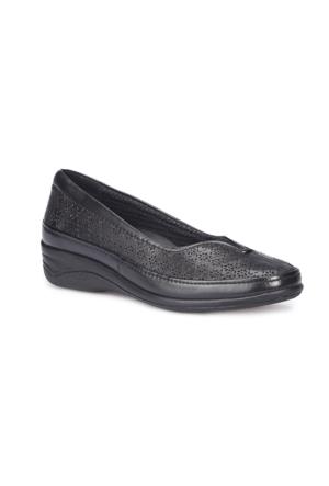 Polaris 5 Nokta 71.109635.Z Siyah Kadın Deri Ayakkabı