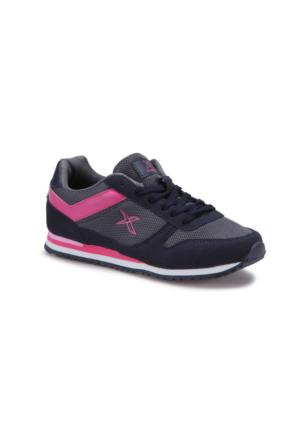 Kinetix Semper Lacivert Gri Fuşya Kadın Sneaker Ayakkabı